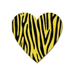 Skin4 Black Marble & Gold Glitter Heart Magnet