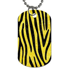 Skin4 Black Marble & Gold Glitter Dog Tag (two Sides)