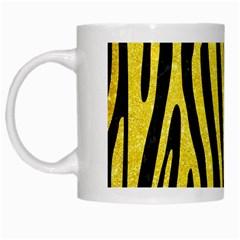 Skin4 Black Marble & Gold Glitter (r) White Mugs