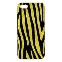 Skin4 Black Marble & Gold Glitter (r) Iphone 5s/ Se Premium Hardshell Case