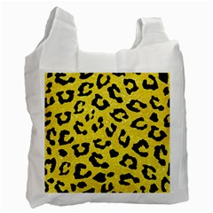 Skin5 Black Marble & Gold Glitter Recycle Bag (two Side)