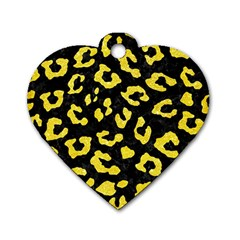Skin5 Black Marble & Gold Glitter (r) Dog Tag Heart (one Side)