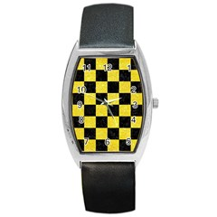 Square1 Black Marble & Gold Glitter Barrel Style Metal Watch