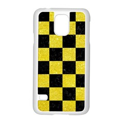 Square1 Black Marble & Gold Glitter Samsung Galaxy S5 Case (white)
