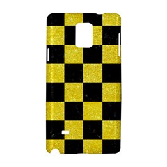Square1 Black Marble & Gold Glitter Samsung Galaxy Note 4 Hardshell Case