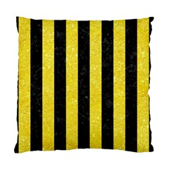 Stripes1 Black Marble & Gold Glitter Standard Cushion Case (two Sides)