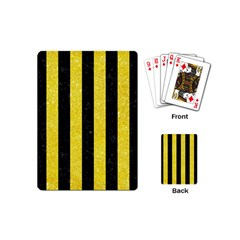 Stripes1 Black Marble & Gold Glitter Playing Cards (mini)