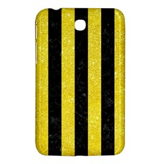 Stripes1 Black Marble & Gold Glitter Samsung Galaxy Tab 3 (7 ) P3200 Hardshell Case