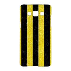 Stripes1 Black Marble & Gold Glitter Samsung Galaxy A5 Hardshell Case