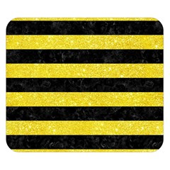 Stripes2 Black Marble & Gold Glitter Double Sided Flano Blanket (small)