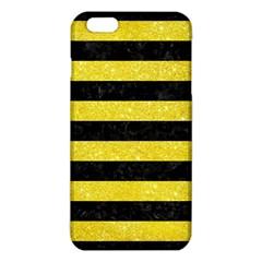 Stripes2 Black Marble & Gold Glitter Iphone 6 Plus/6s Plus Tpu Case