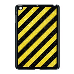 Stripes3 Black Marble & Gold Glitter Apple Ipad Mini Case (black)