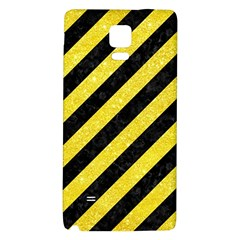 Stripes3 Black Marble & Gold Glitter Galaxy Note 4 Back Case