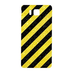 Stripes3 Black Marble & Gold Glitter Samsung Galaxy Alpha Hardshell Back Case