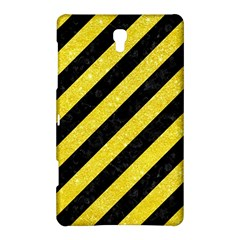 Stripes3 Black Marble & Gold Glitter Samsung Galaxy Tab S (8 4 ) Hardshell Case