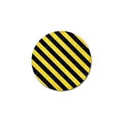 Stripes3 Black Marble & Gold Glitter (r) Golf Ball Marker
