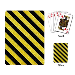 Stripes3 Black Marble & Gold Glitter (r) Playing Card