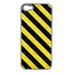 Stripes3 Black Marble & Gold Glitter (r) Apple Iphone 5 Case (silver)