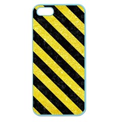 Stripes3 Black Marble & Gold Glitter (r) Apple Seamless Iphone 5 Case (color)