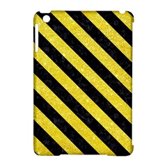 Stripes3 Black Marble & Gold Glitter (r) Apple Ipad Mini Hardshell Case (compatible With Smart Cover)