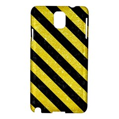 Stripes3 Black Marble & Gold Glitter (r) Samsung Galaxy Note 3 N9005 Hardshell Case