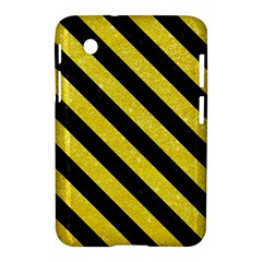 Stripes3 Black Marble & Gold Glitter (r) Samsung Galaxy Tab 2 (7 ) P3100 Hardshell Case