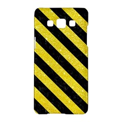 Stripes3 Black Marble & Gold Glitter (r) Samsung Galaxy A5 Hardshell Case