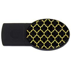 Tile1 Black Marble & Gold Glitter Usb Flash Drive Oval (4 Gb)