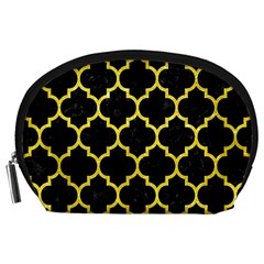 Tile1 Black Marble & Gold Glitter Accessory Pouches (large)