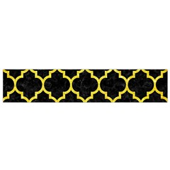 Tile1 Black Marble & Gold Glitter Flano Scarf (small)