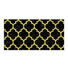 Tile1 Black Marble & Gold Glitter Satin Wrap