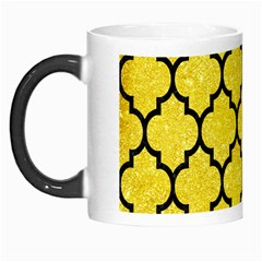 Tile1 Black Marble & Gold Glitter (r) Morph Mugs