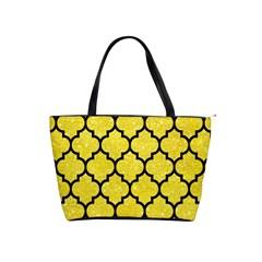 Tile1 Black Marble & Gold Glitter (r) Shoulder Handbags
