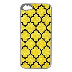 Tile1 Black Marble & Gold Glitter (r) Apple Iphone 5 Case (silver)