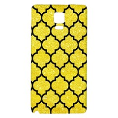Tile1 Black Marble & Gold Glitter (r) Galaxy Note 4 Back Case