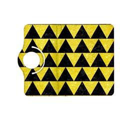 Triangle2 Black Marble & Gold Glitter Kindle Fire Hd (2013) Flip 360 Case