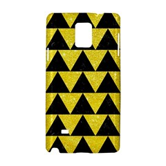 Triangle2 Black Marble & Gold Glitter Samsung Galaxy Note 4 Hardshell Case