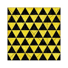 Triangle3 Black Marble & Gold Glitter Acrylic Tangram Puzzle (6  X 6 )