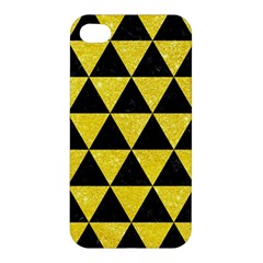 Triangle3 Black Marble & Gold Glitter Apple Iphone 4/4s Premium Hardshell Case