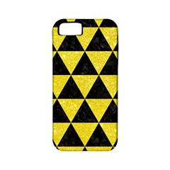 Triangle3 Black Marble & Gold Glitter Apple Iphone 5 Classic Hardshell Case (pc+silicone)