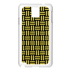 Woven1 Black Marble & Gold Glitter Samsung Galaxy Note 3 N9005 Case (white)