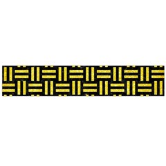 Woven1 Black Marble & Gold Glitter Flano Scarf (large)