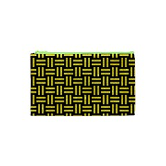 Woven1 Black Marble & Gold Glitter Cosmetic Bag (xs)