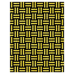 Woven1 Black Marble & Gold Glitter Drawstring Bag (large)