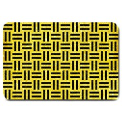 Woven1 Black Marble & Gold Glitter (r) Large Doormat