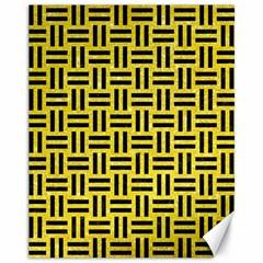 Woven1 Black Marble & Gold Glitter (r) Canvas 11  X 14