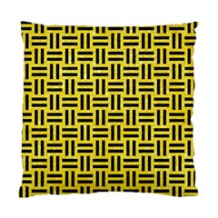 Woven1 Black Marble & Gold Glitter (r) Standard Cushion Case (one Side)