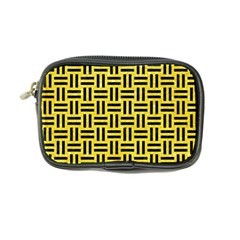 Woven1 Black Marble & Gold Glitter (r) Coin Purse