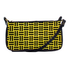 Woven1 Black Marble & Gold Glitter (r) Shoulder Clutch Bags
