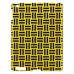 Woven1 Black Marble & Gold Glitter (r) Apple Ipad 3/4 Hardshell Case